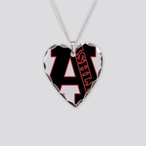 ASHLEE Letterman design Red/b Necklace Heart Charm