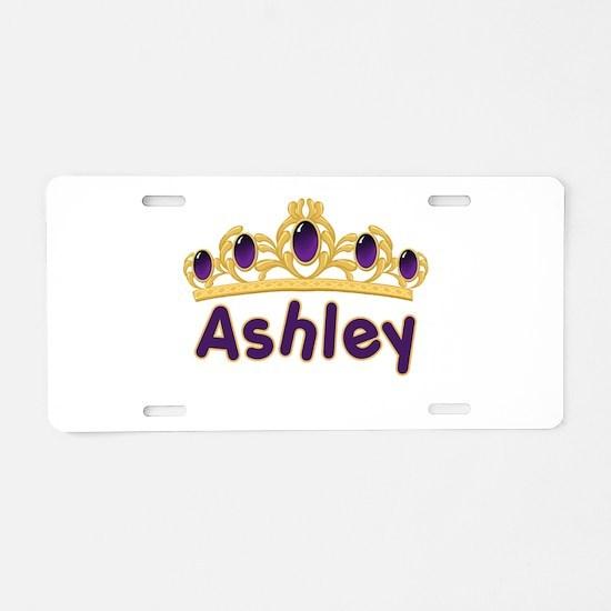 Princess Tiara Ashley Persona Aluminum License Pla