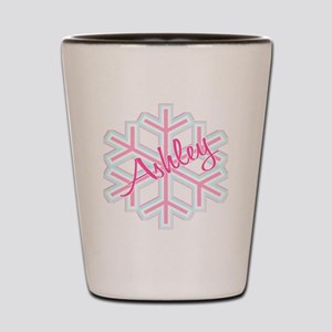 Ashley Snowflake Personalized Shot Glass