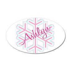 Ashlyn Snowflake Personalized 22x14 Oval Wall Peel