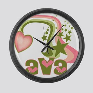 Rainbows & Stars Ava Personal Large Wall Clock