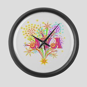 Sparkle Celebration Ava Large Wall Clock