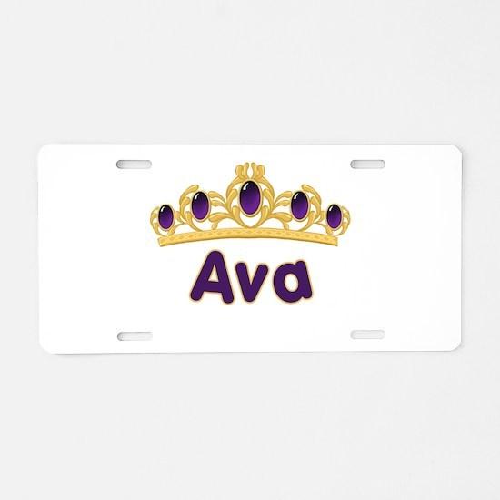 Princess Tiara Ava Personaliz Aluminum License Pla