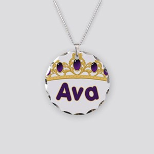 Princess Tiara Ava Personaliz Necklace Circle Char