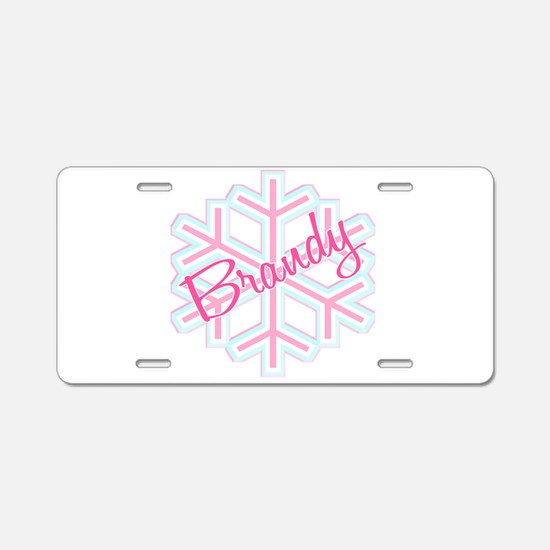 Brandy Snowflake Personalized Aluminum License Pla