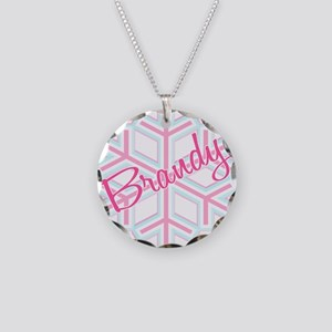 Brandy Snowflake Personalized Necklace Circle Char