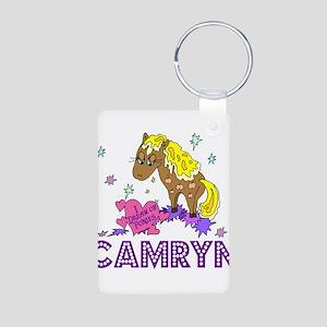 I Dream Of Ponies Camryn Aluminum Photo Keychain
