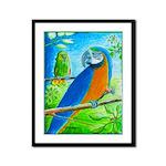 Flipping Birds Framed Panel Print