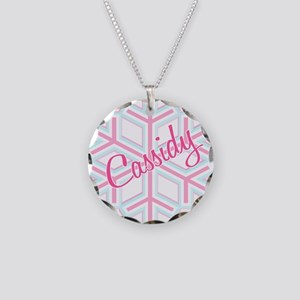 Cassidy Snowflake Personalize Necklace Circle Char