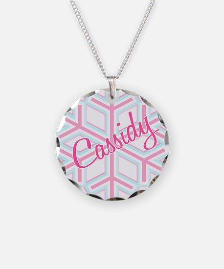 Cassidy Snowflake Personalize Necklace
