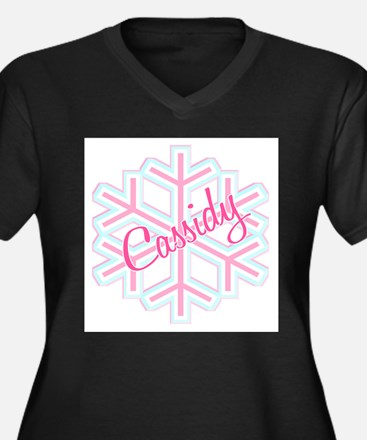 Cassidy Snowflake Personalize Women's Plus Size V-
