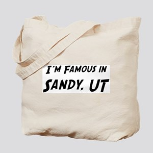 Famous in Sandy Tote Bag