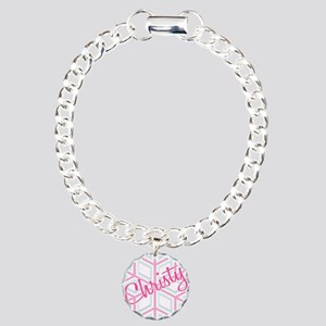 Christy Snowflake Personalize Charm Bracelet, One
