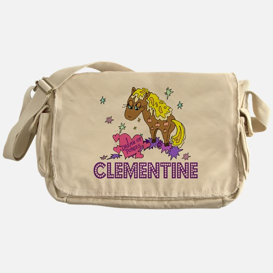 I Dream Of Ponies Clementine Messenger Bag