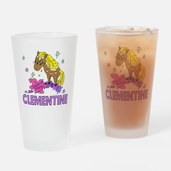 I Dream Of Ponies Clementine Drinking Glass