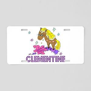I Dream Of Ponies Clementine Aluminum License Plat