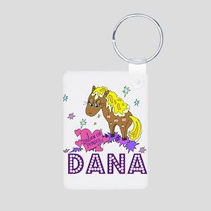 I Dream Of Ponies Dana Aluminum Photo Keychain
