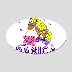 I Dream Of Ponies Danica 22x14 Oval Wall Peel