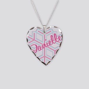 Danielle Snowflake Personaliz Necklace Heart Charm