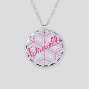 Danielle Snowflake Personaliz Necklace Circle Char
