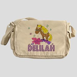 I Dream Of Ponies Delilah Messenger Bag