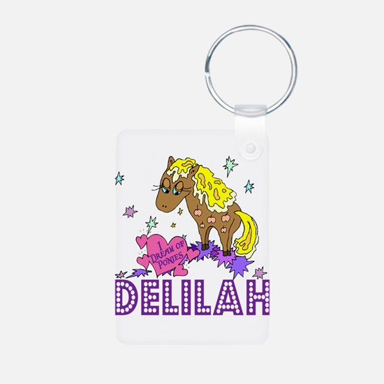 I Dream Of Ponies Delilah Keychains