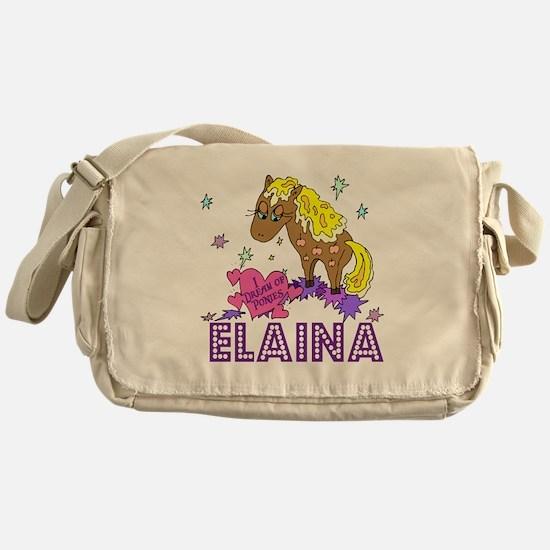 I Dream Of Ponies Elaina Messenger Bag