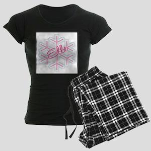 Elle Snowflake Personalized Women's Dark Pajamas