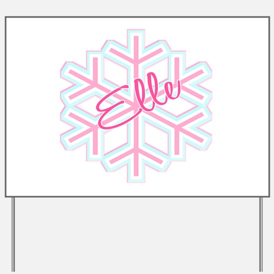 Elle Snowflake Personalized Yard Sign