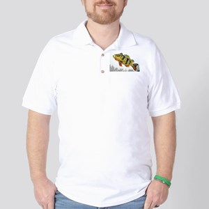 Peacock Bass Full Color Golf Shirt