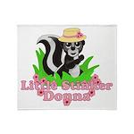 Little Stinker Donna Throw Blanket