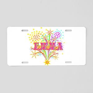 Sparkle Celebration Emma Aluminum License Plate