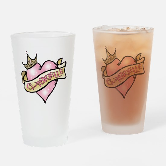 Sweetheart Gabrielle Custom P Drinking Glass