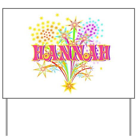 Sparkle Celebration Hannah Yard Sign