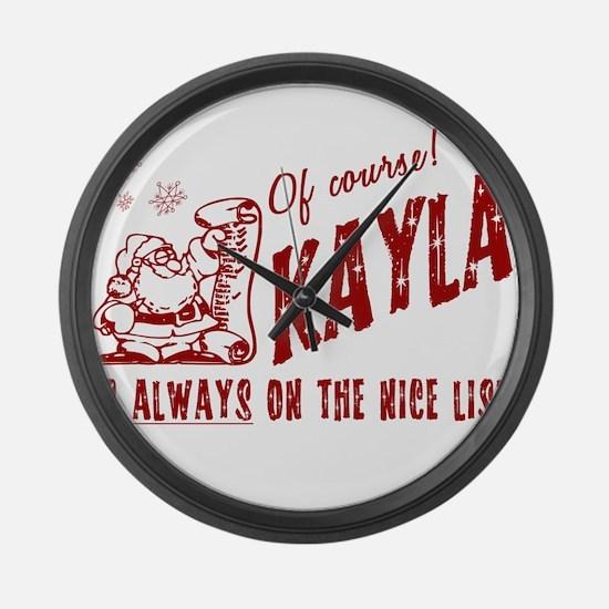 Nice List Kayla Christmas Large Wall Clock