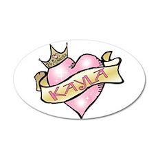 Sweetheart Kayla Custom Princ 22x14 Oval Wall Peel