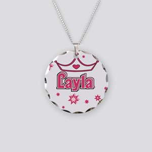 Layla Princess Crown w/Stars Necklace Circle Charm