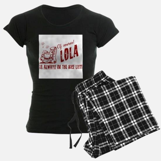 Nice List Lola Christmas Pajamas