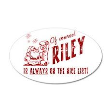 Nice List Riley Christmas 22x14 Oval Wall Peel