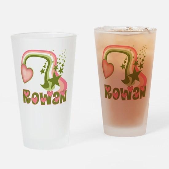 Rainbow and Stars Rowan Perso Drinking Glass