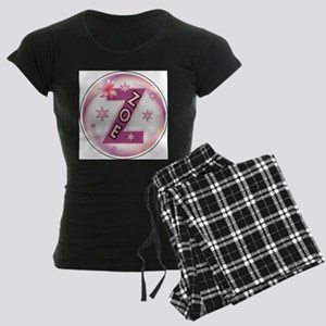 Zoe 1 inch Button Collection Women's Dark Pajamas