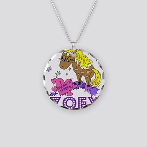 I Dream Of Ponies Zoey Necklace Circle Charm