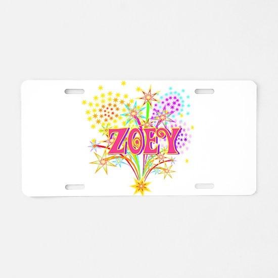 Sparkle Celebration Zoey Aluminum License Plate