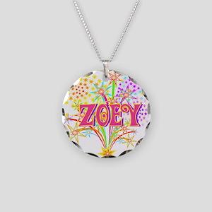 Sparkle Celebration Zoey Necklace Circle Charm