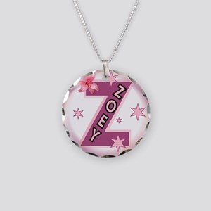 Zoey 1 inch Button Collection Necklace Circle Char