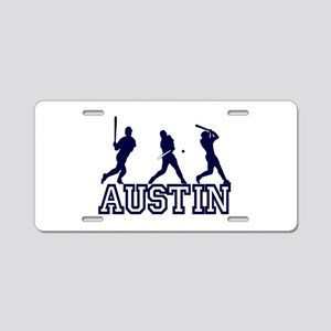 Baseball Austin Personalized Aluminum License Plat