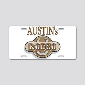 Austin's Rodeo Personalized Aluminum License Plate