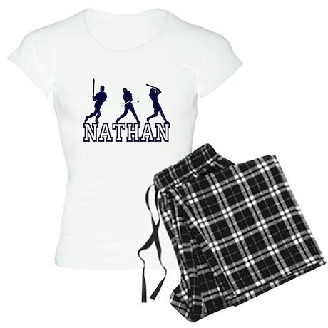 Baseball Nathan Personalized Women's Light Pajamas