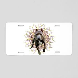 Pit Bull Kaleidoscope Graphic Aluminum License Pla