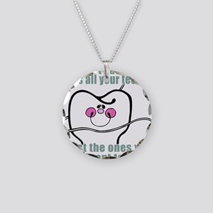 Keep Flossing! Dentist Necklace Circle Charm